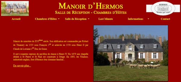 5 chambres d'hôtes au Manoir d'Hermos