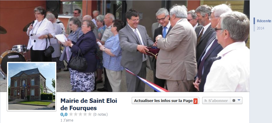 La page Facebook de la commune de Saint-Eloi-de-Fourques