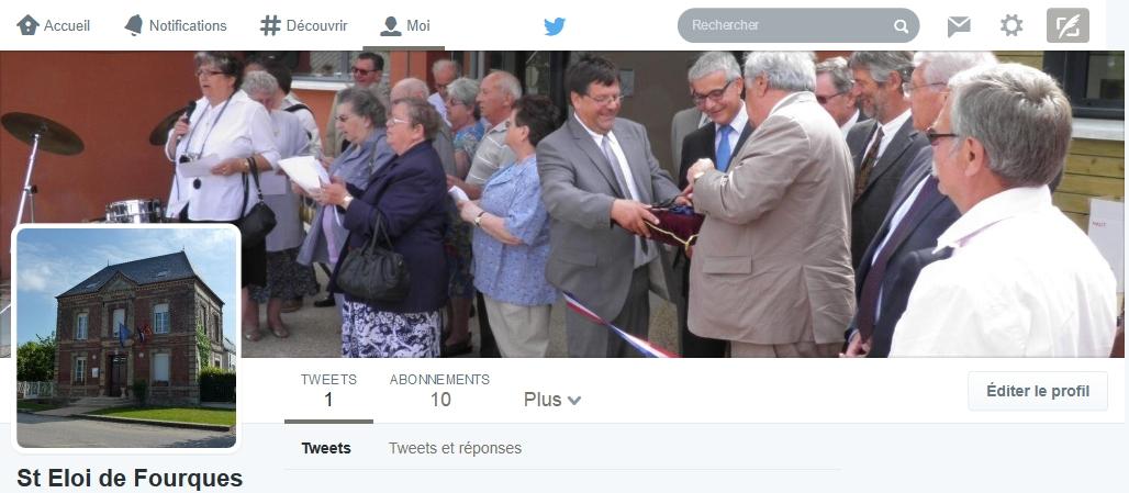 La timeline Twitter de la commune de Saint-Eloi-de-Fourques