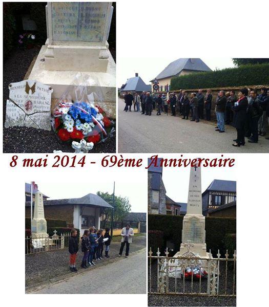 Le 69e anniversaire de la commémoration du 8 mai 1945 à Saint-Eloi-de-Fourques