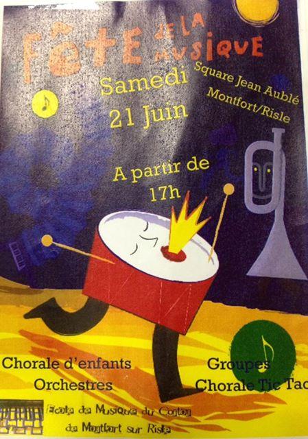 La chorale de Saint-Eloi-de-Fourques en démonstaration à Montfort-sur-Risle