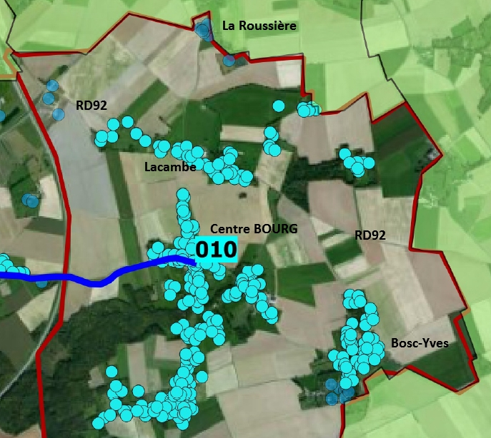 La carte du THD pour Saint-Eloi-de-Fourques