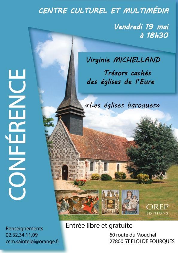 Conférence sur les églises de l'Eure à la médiathèque le 19 mai