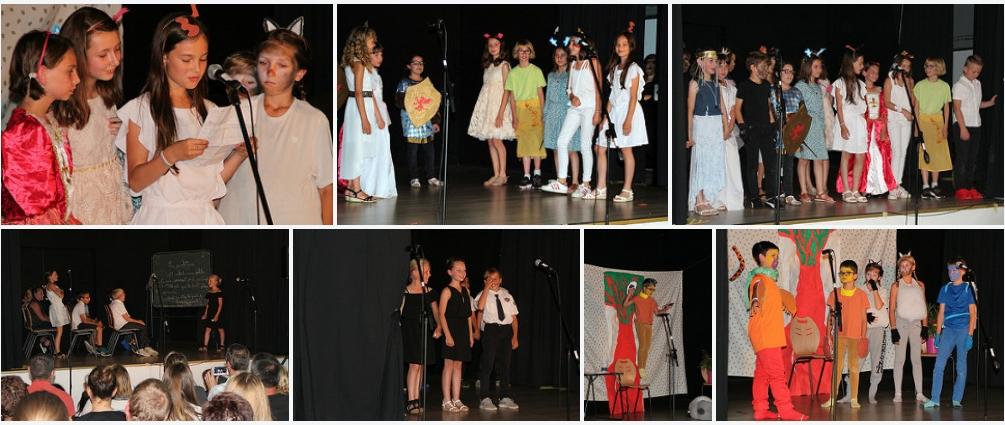 Au théâtre, hier soir, par les CM1 et CM2 de l'école de Saint-Paul-de-Fourques