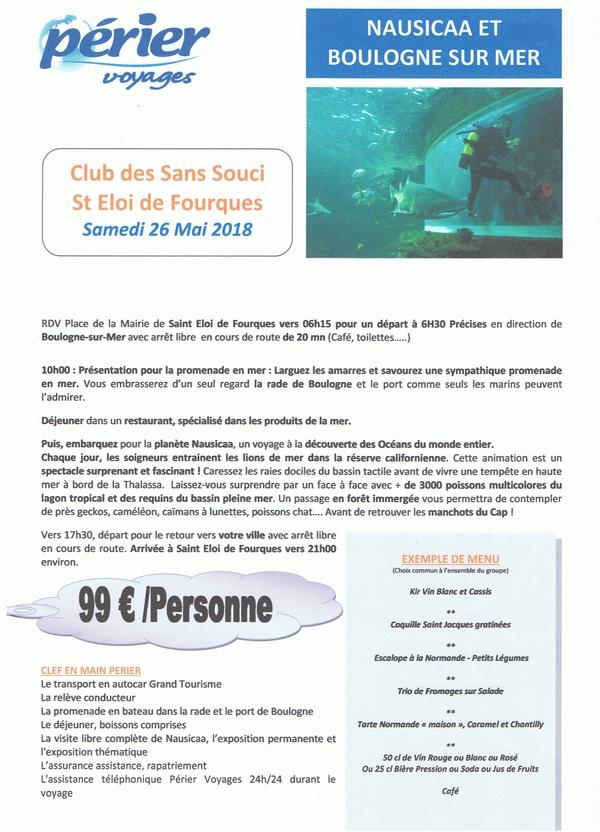 Nausicaa à Boulogne sur Mer le samedi 28 mai, ça vous dit ?