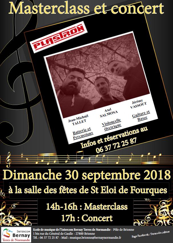 Demain, concert du groupe Plastron à Saint-Eloi