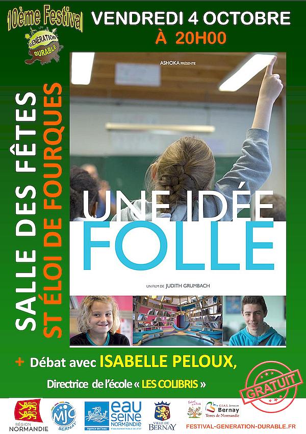 Conférence d'Isabelle Peloux, le vendredi 4 octobre à 20 h 00
