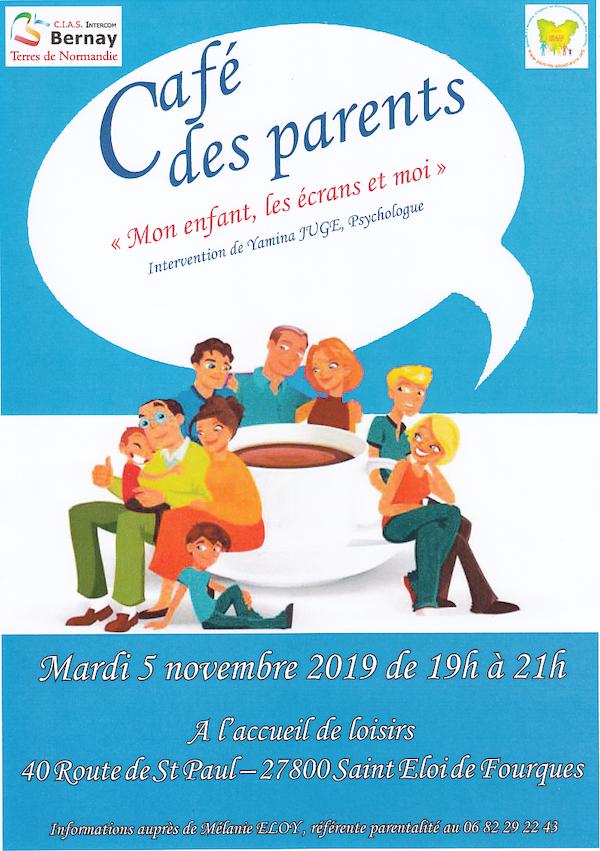 Un café des parents sur les écrans, mardi 5 novembre